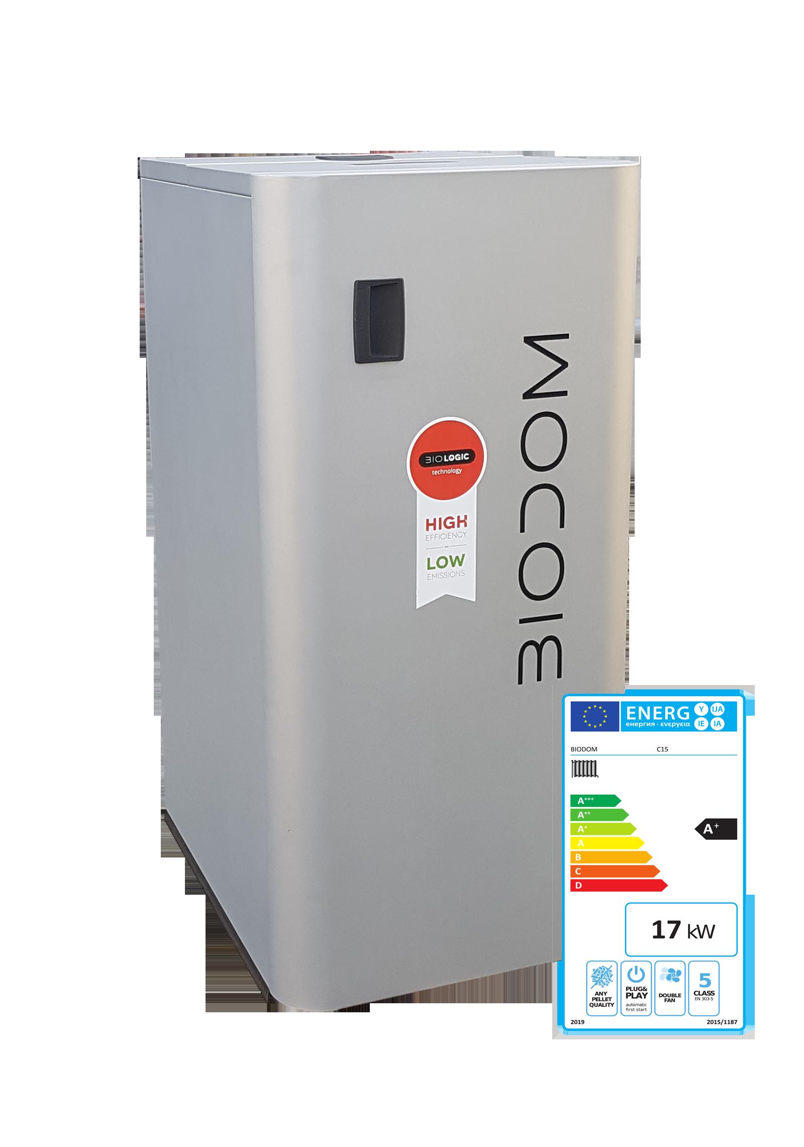 Biodom C15 met energielabel A+