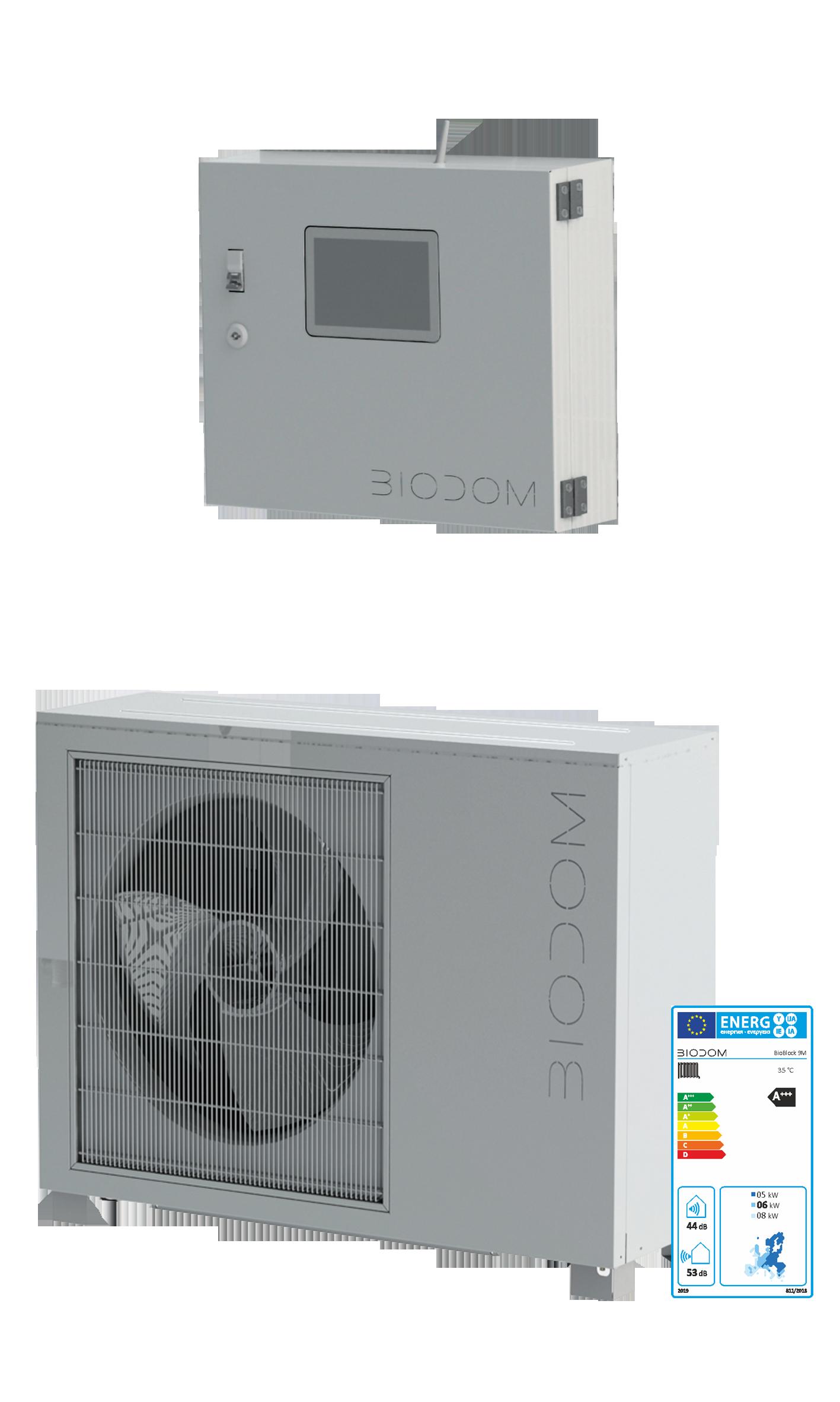 Biodom warmtepomp met IQ2 controller
